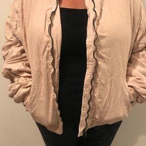 Oversized free people bomber jacket.